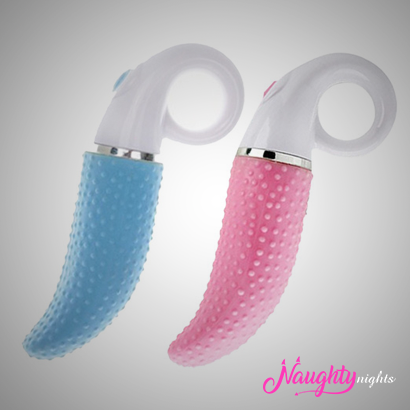 Tongue Shape Dotted Vibrator