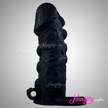 6.5 Inch Vibrating Black Chocolate Sleeve