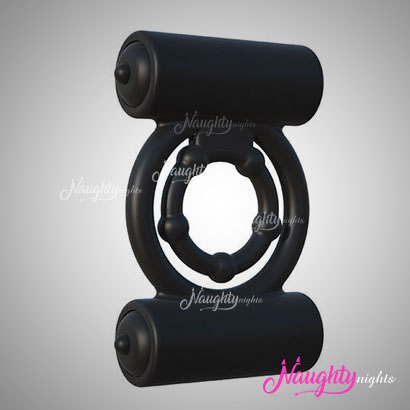 Double Hold Dual Bullet Vibrating Cock Ring