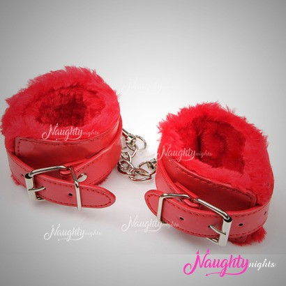 Red Leather Ankle Handcuff
